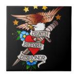 tatuaje del águila del vintage tejas