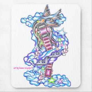 tatuaje del amante de la música mousepad