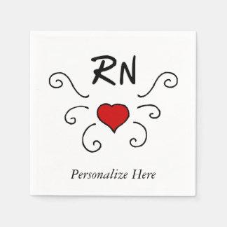 Tatuaje del amor de la enfermera del RN Servilleta De Papel