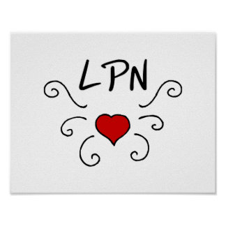 Tatuaje del amor de LPN Póster