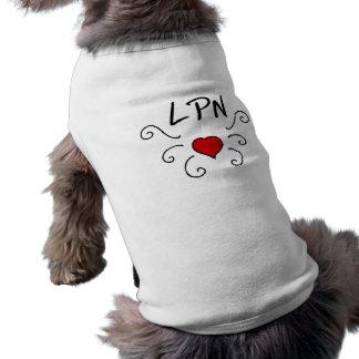 Tatuaje del amor de LPN Camisas De Mascota