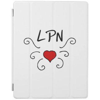 Tatuaje del amor del oficio de enfermera LPN Cubierta De iPad