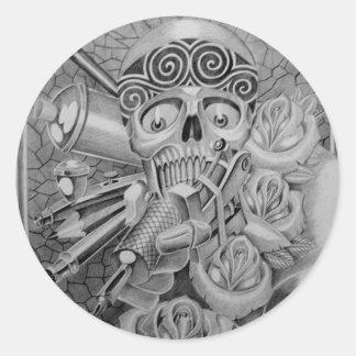 tatuaje del amor pegatina redonda