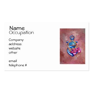 Tatuaje del ancla plantillas de tarjetas personales