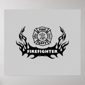 Tatuaje del bombero posters