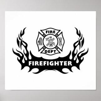 Tatuaje del bombero póster