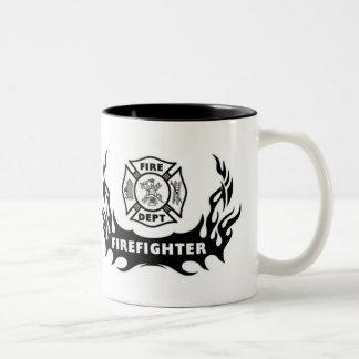 Tatuaje del bombero taza dos tonos