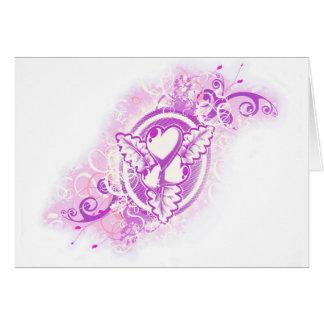 Tatuaje del corazón con las flores (púrpuras) felicitaciones