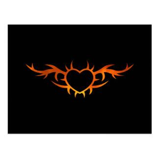 Tatuaje del corazón postal