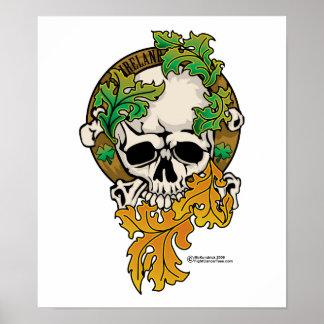 Tatuaje del cráneo de Irlanda Impresiones