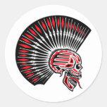 Tatuaje del cráneo del eje de balancín punky pegatina