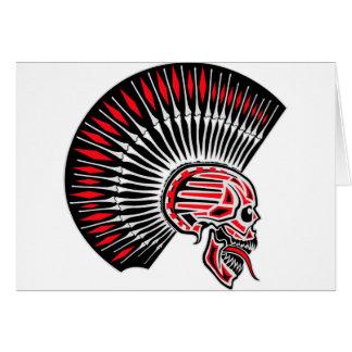 Tatuaje del cráneo del eje de balancín punky tarjeta de felicitación