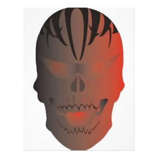 Tatuaje del cráneo flyer personalizado