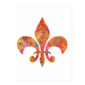 Tatuaje del diseñador de la estrella del arce: postal