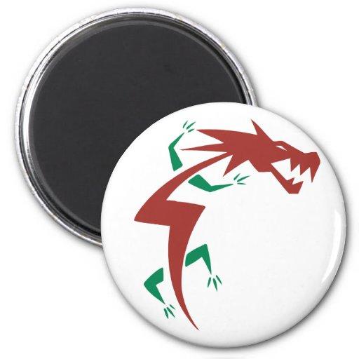 Tatuaje del dragón imán redondo 5 cm