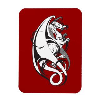 Tatuaje del dragón imanes rectangulares
