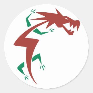 Tatuaje del dragón pegatina redonda