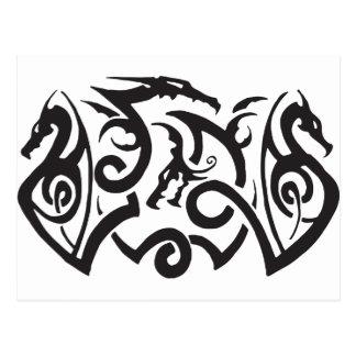 Tatuaje del dragón postal