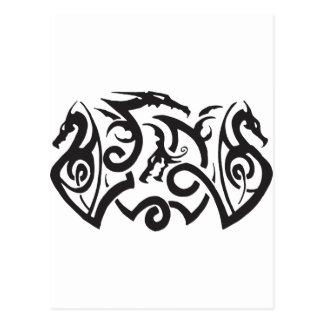 Tatuaje del dragón postales