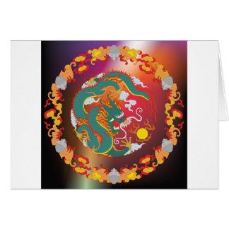 Tatuaje del dragón tarjeta de felicitación
