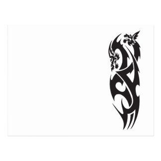 Tatuaje del dragón tarjeta postal