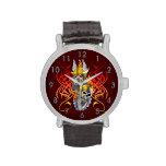 Tatuaje del guerrero de Viking Relojes De Mano