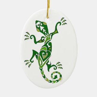 Tatuaje del lagarto ornamento para arbol de navidad