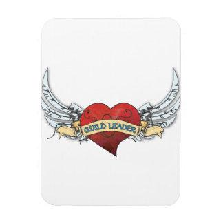 Tatuaje del LÍDER del GREMIO - corazón y alas Rectangle Magnet