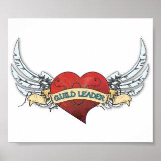 Tatuaje del LÍDER del GREMIO - corazón y alas Póster