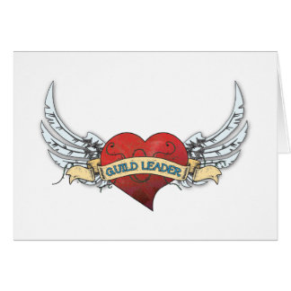 Tatuaje del LÍDER del GREMIO - corazón y alas Tarjeta De Felicitación