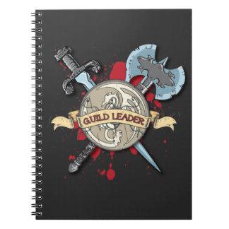 Tatuaje del LÍDER del GREMIO - espada, hacha, y es Libreta Espiral