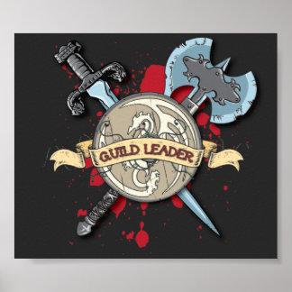 Tatuaje del LÍDER del GREMIO - espada, hacha, y es Posters