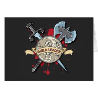 Tatuaje del LÍDER del GREMIO - espada, hacha, y es Tarjeta De Felicitación