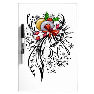 Tatuaje del navidad tablero blanco