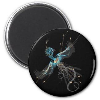 Tatuaje del pájaro de la medicina imán redondo 5 cm