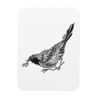 Tatuaje del pájaro iman flexible