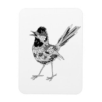 Tatuaje del pájaro imán foto rectangular