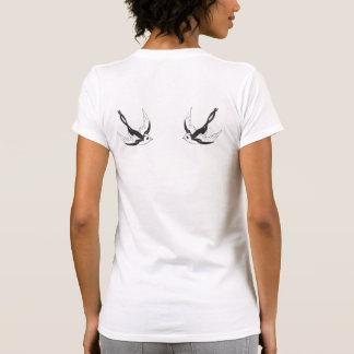 Tatuaje del pájaro camiseta