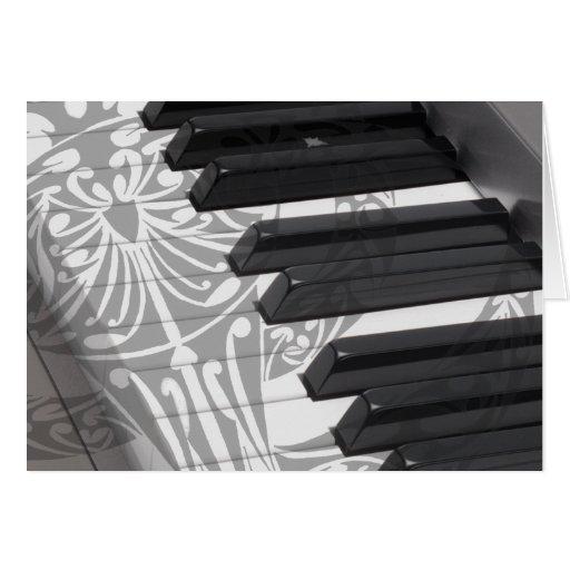 Tatuaje del piano tarjeta