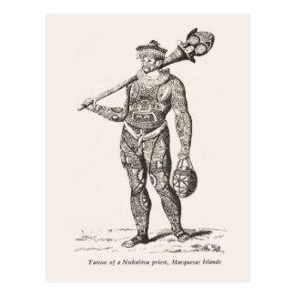 Tatuaje del sacerdote, islas de Marqueses Postales