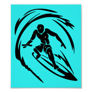 TATUAJE del TIPO QUE PRACTICA SURF extreme_sport_0 Póster