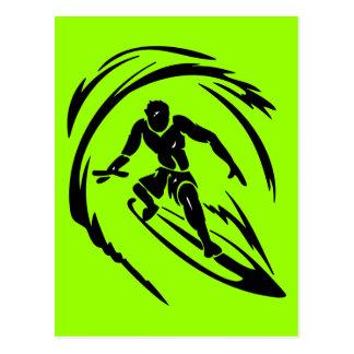 TATUAJE del TIPO QUE PRACTICA SURF extreme_sport_0 Tarjeta Postal