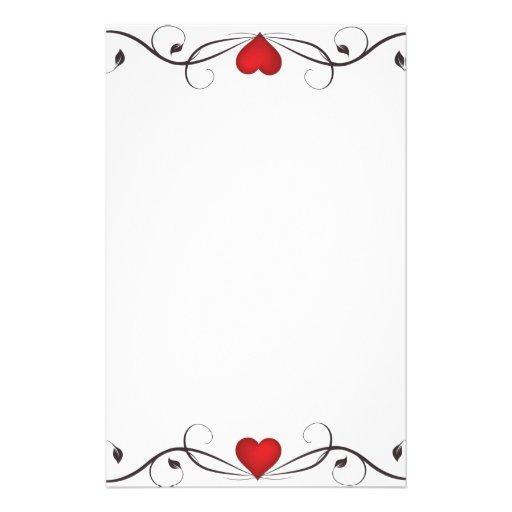 Tatuaje elegante del corazón inmóvil  papeleria de diseño