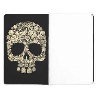 Tatuaje floral del cráneo del azúcar cuadernos grapados