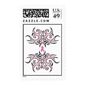 Tatuaje/franqueo rosado de la cinta sellos postales