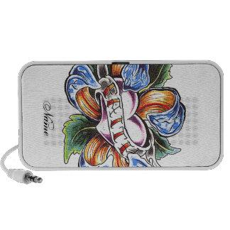 Tatuaje fresco de la flor de la fe altavoces de viaje