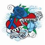 Tatuaje gemelo de los corazones de Lou Gehrigs Esculturas Fotograficas