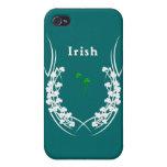 Tatuaje irlandés del trébol iPhone 4 carcasas