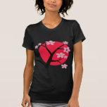 Tatuaje japonés de la flor de cerezo camisetas