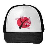 Tatuaje japonés de la flor de cerezo gorro de camionero